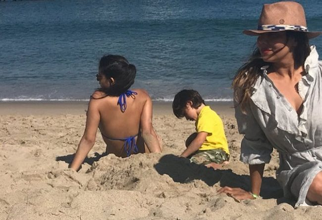 Gauri Khan with her son AbRam and daughter Suhana