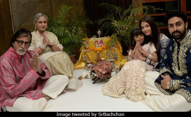 Bachchan family pose for a family Diwali picture