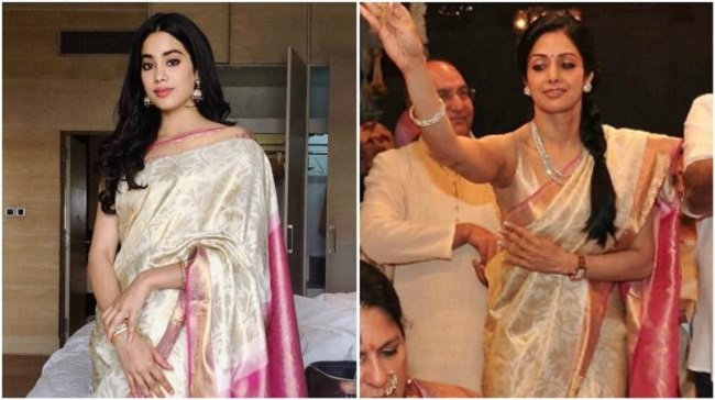 Sridevi's Daughters Collect Her National Award & Jhanvi Wore The Same Saree To Remember Sridevi