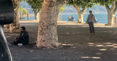 NTR sitting all alone and busy in deep thoughts in Milan.