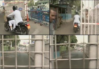Owaisi Reaches Telangana CM's House On Bike
