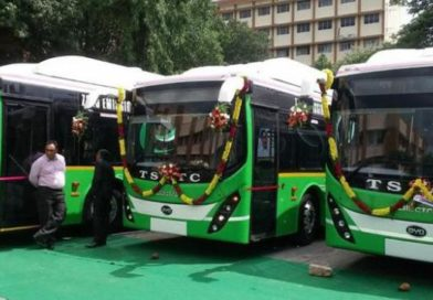 QHyderabad: 40 Electric Buses Launched; 40,000 GHMC Houses by Aug