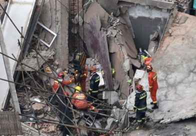 At least 10 reported trapped in Shanghai building collapse